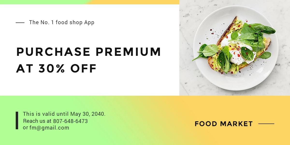 Restaurant App Promotion Blog Post Template