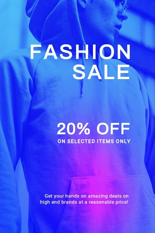 Fashion Sale Discounts Tumblr Post Template