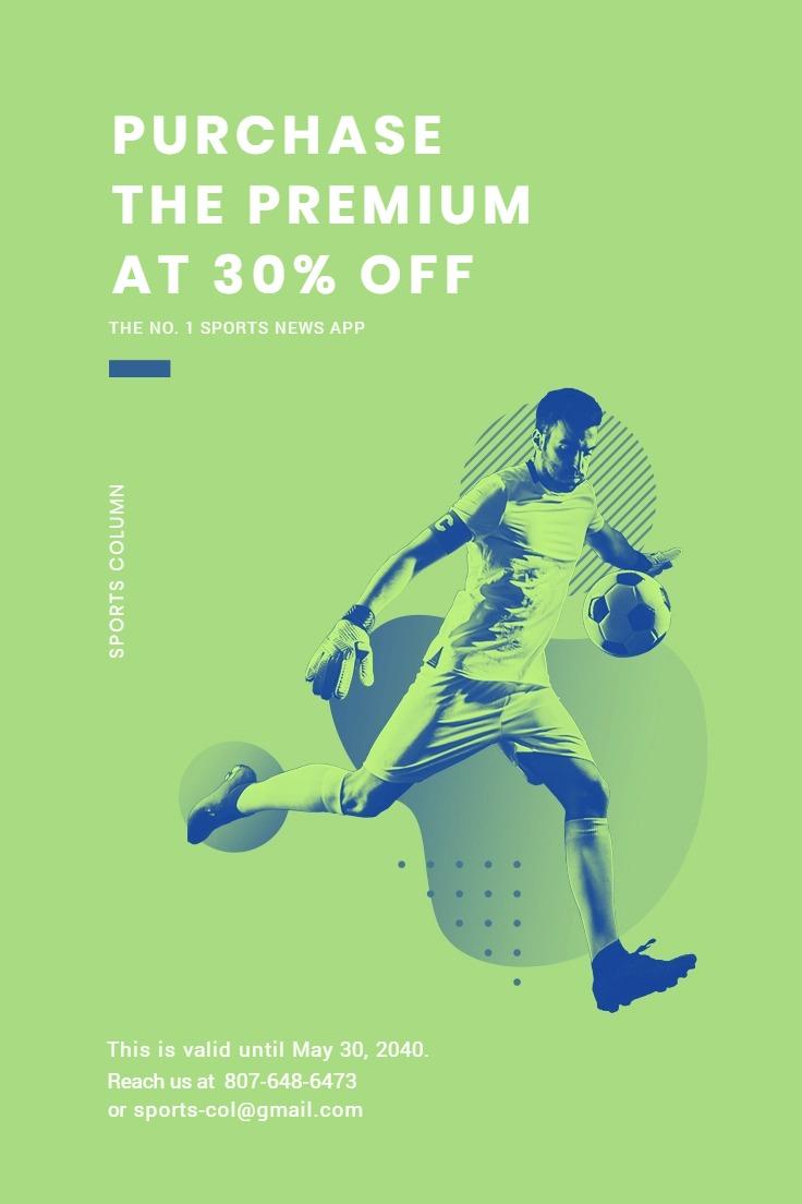 Sports App Promotion Pinterest Pin Template