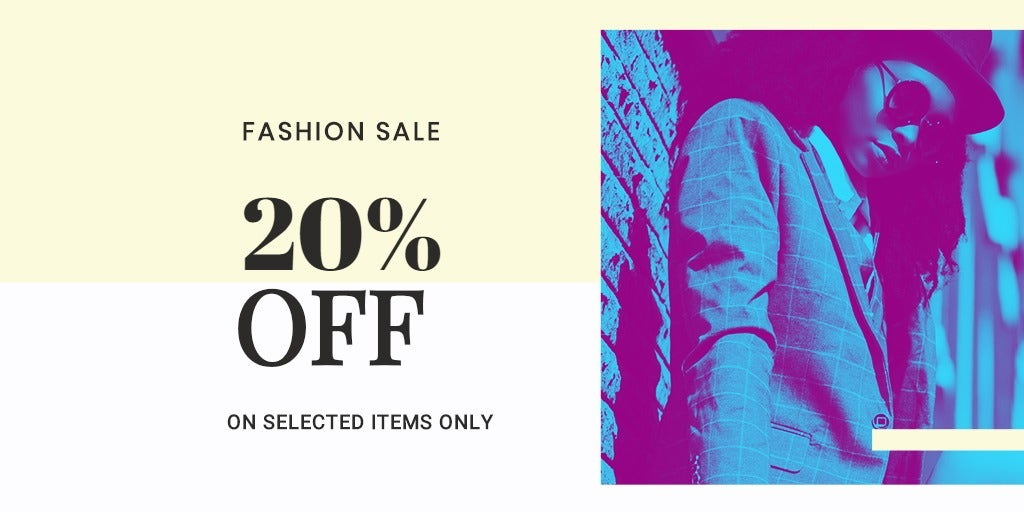 Fashion Clearance Sale Twitter Post Template
