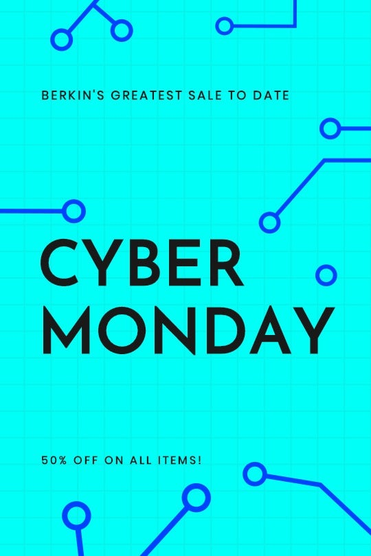 Editable Cyber Monday Sale Tumblr Post Template