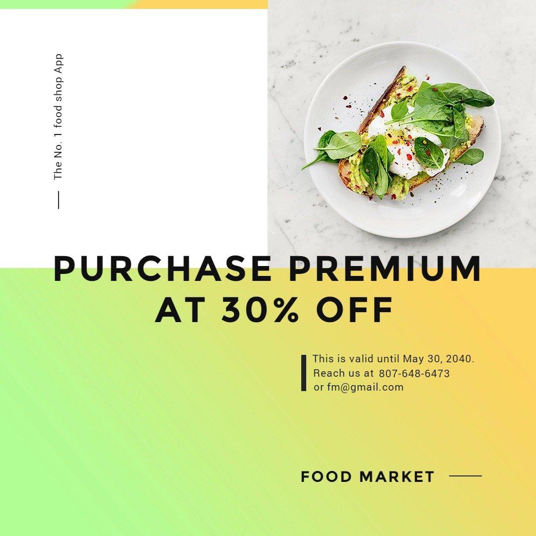 Restaurant App Promotion Instagram Post Template