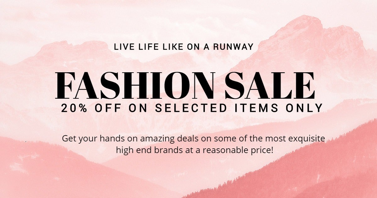 Blank Fashion Sale Facebook Post Template
