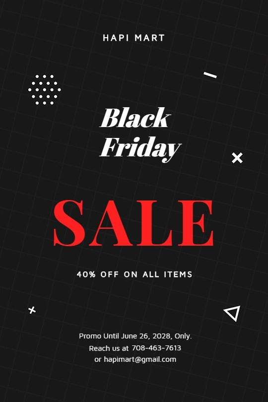 Black Friday Sale Tumblr Post Template