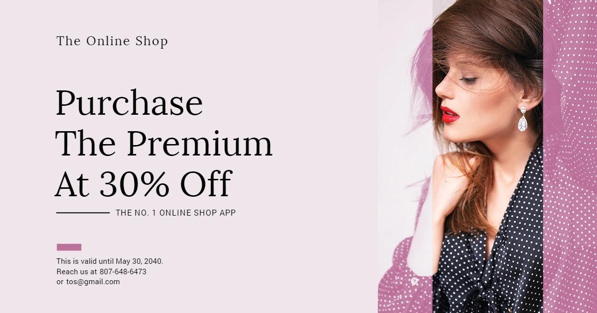 Shop App Promotion Facebook Post Template