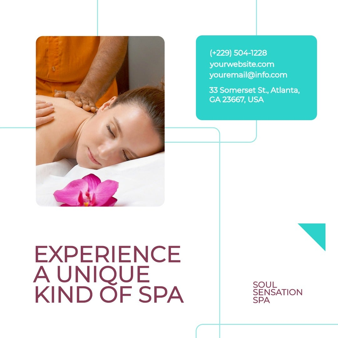 Professional Spa Instagram Post Template