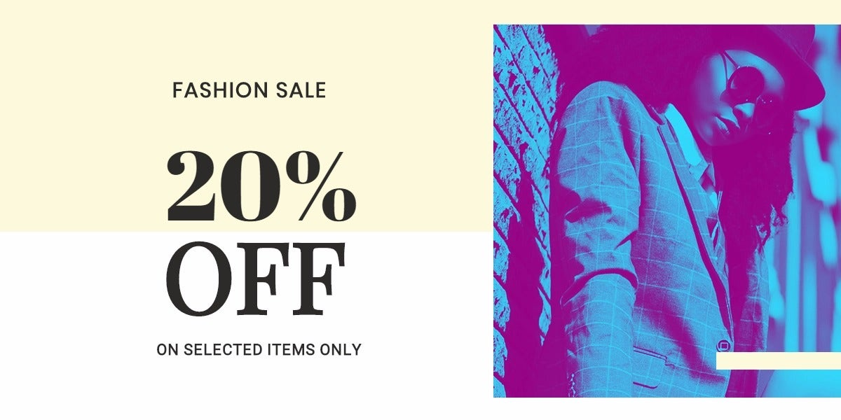 Fashion Clearance Sale Blog Post Template