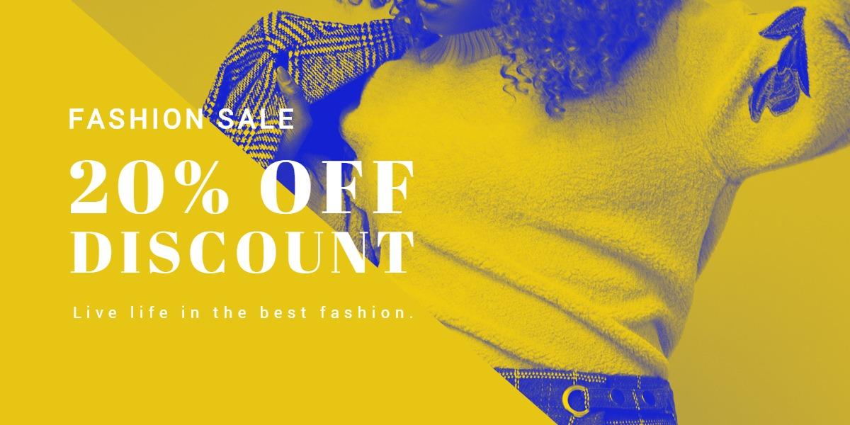 Creative Fashion Sale Blog Post Template