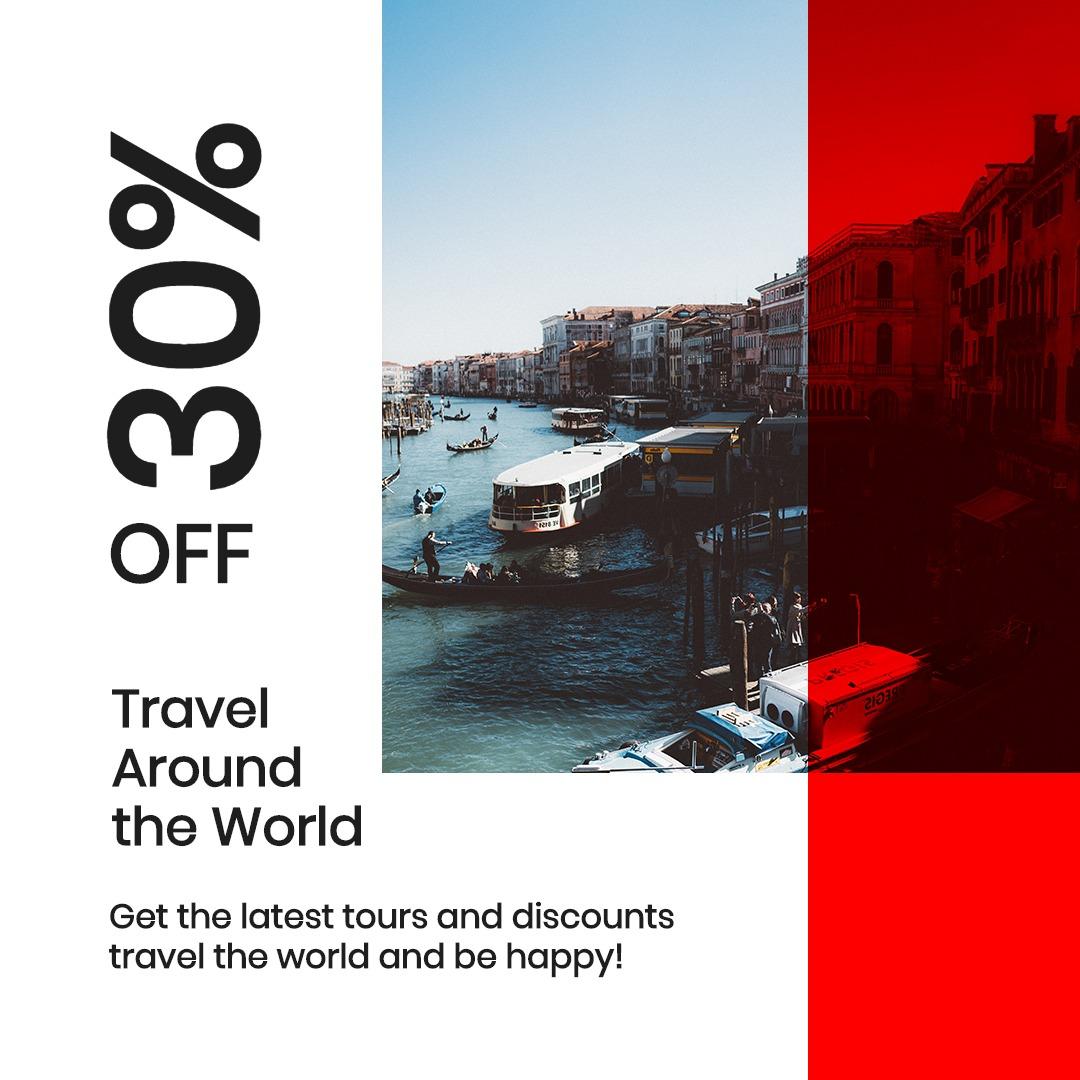Modern Travel Instagram Post Template