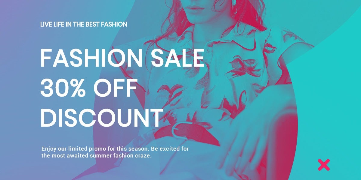 Fashion Products Sale Blog Post Template