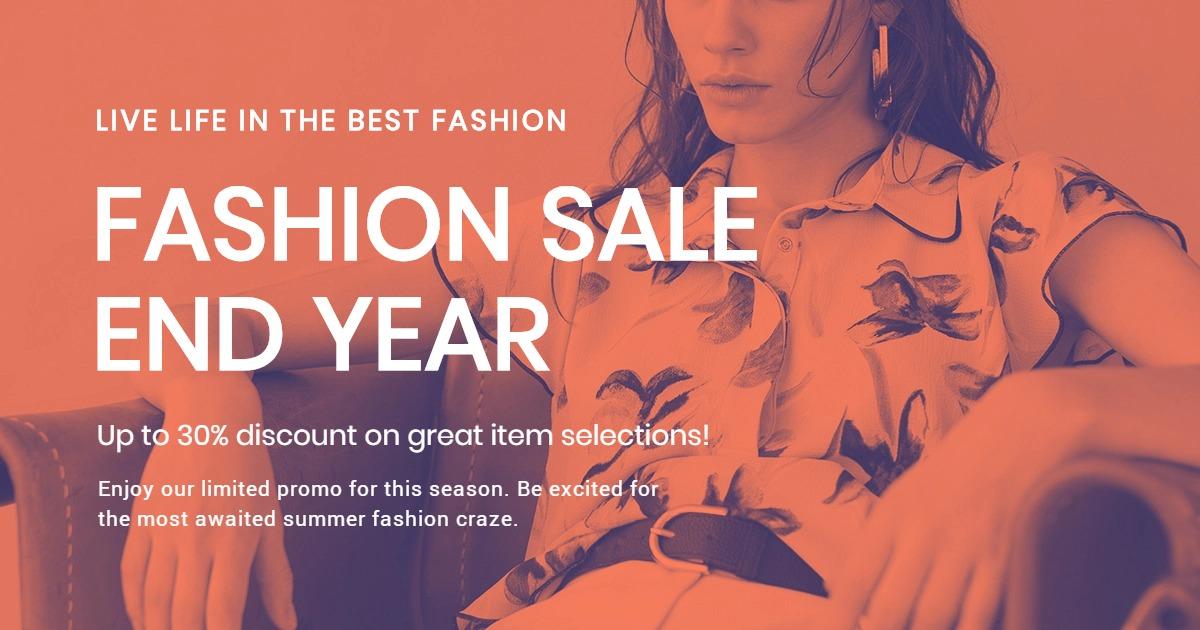Minimalistic Fashion Sale Facebook post Template
