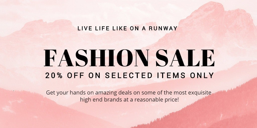 Blank Fashion Sale Twitter Post Template