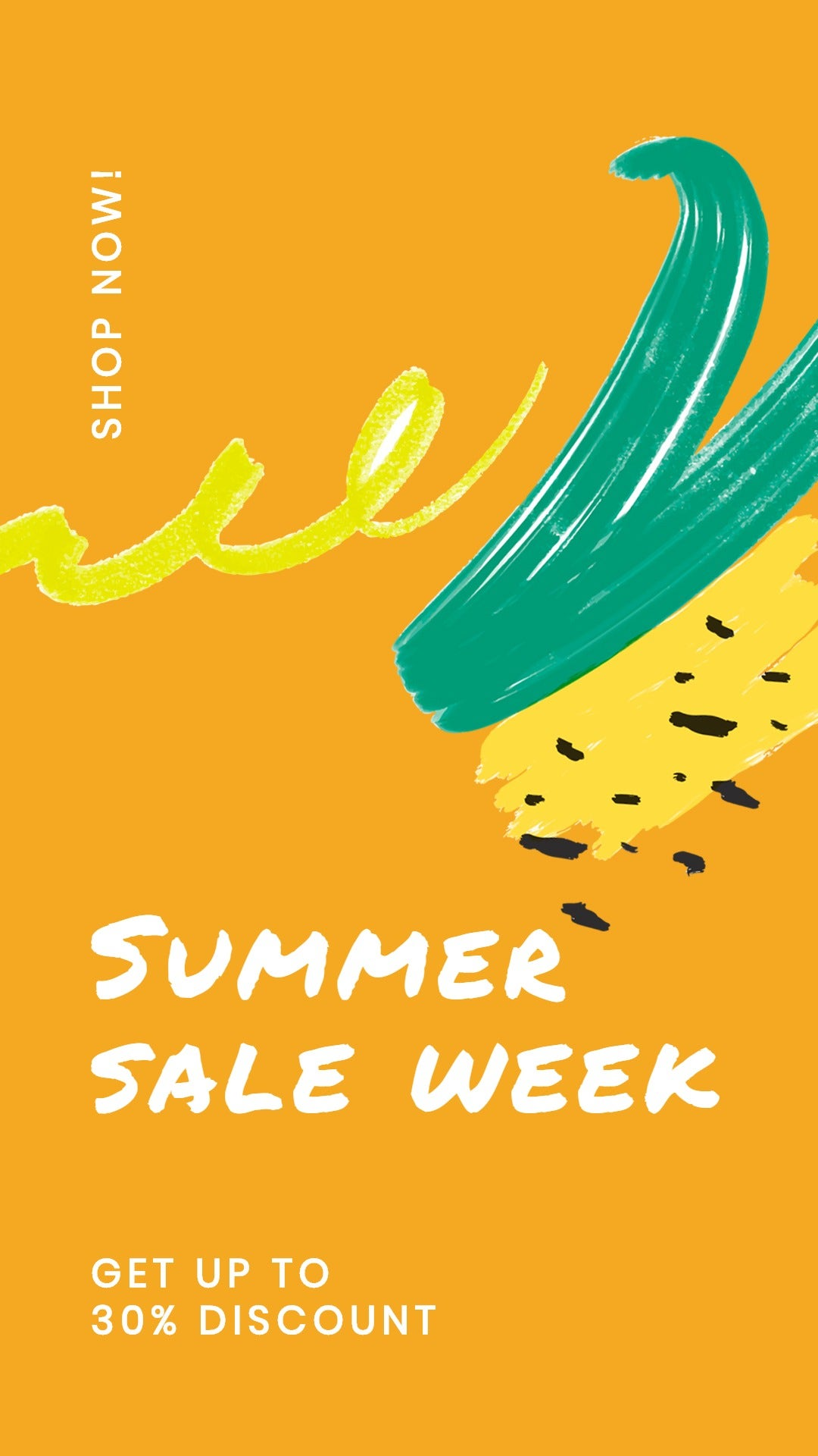 Summer Sale Whatsapp Post Template