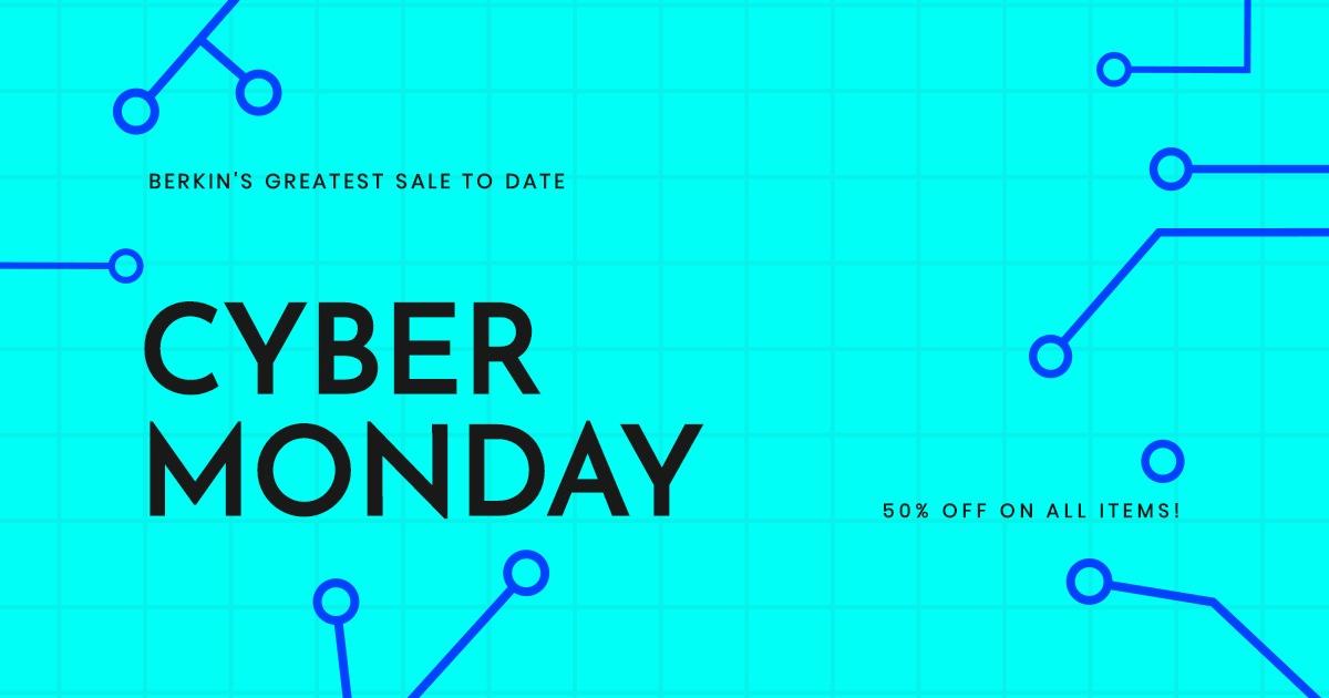 Editable Cyber Monday Sale Facebook Post Template