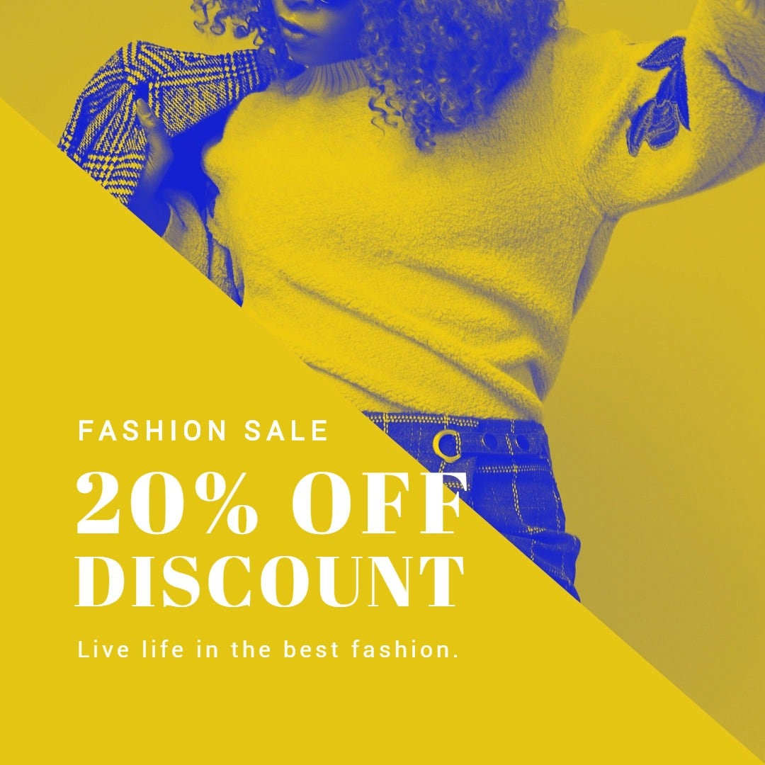 Creative Fashion Sale Instagram Post Template