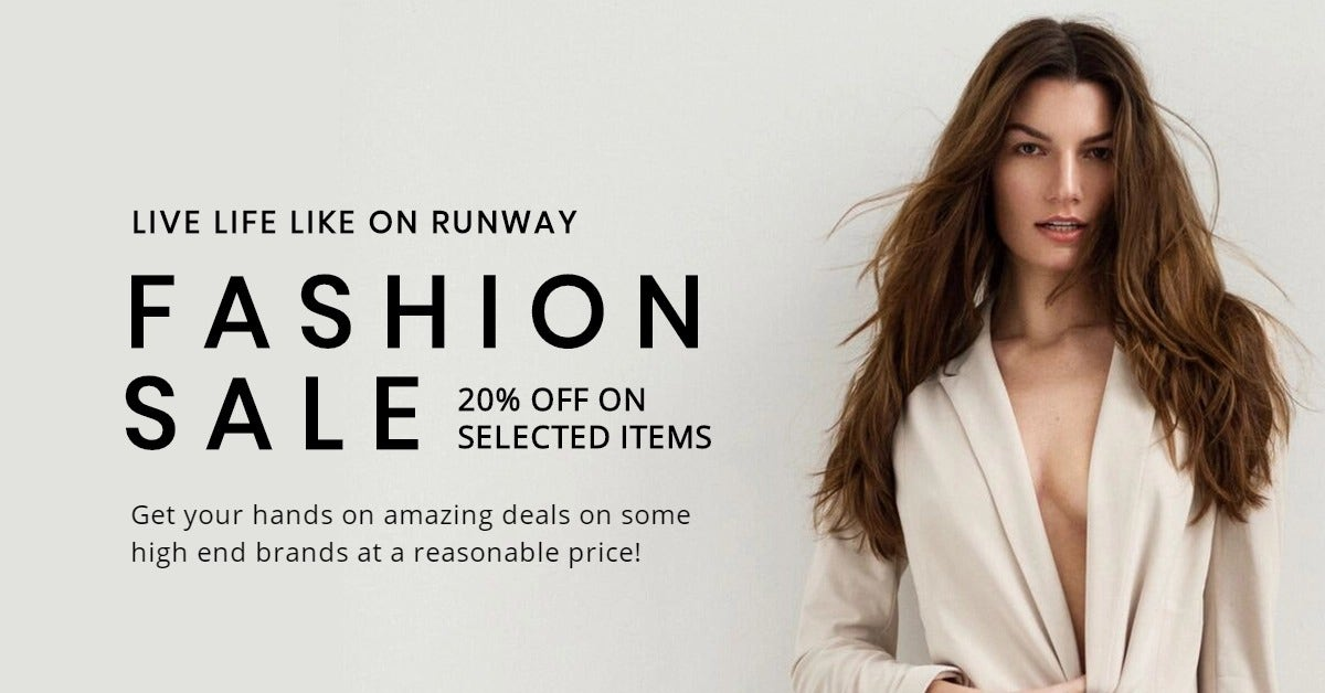 Grand Fashion Sale LinkedIn Post Template
