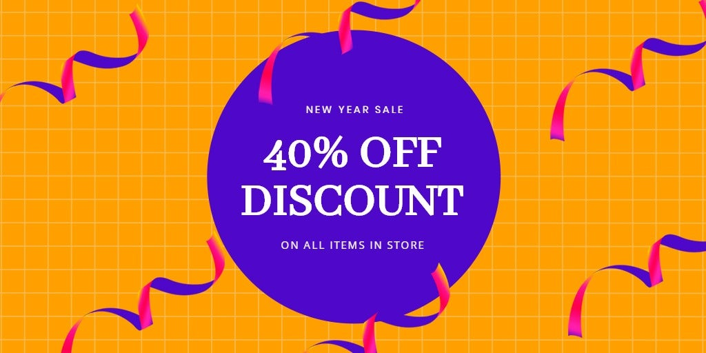 Holiday Discount Sale Twitter Post Template