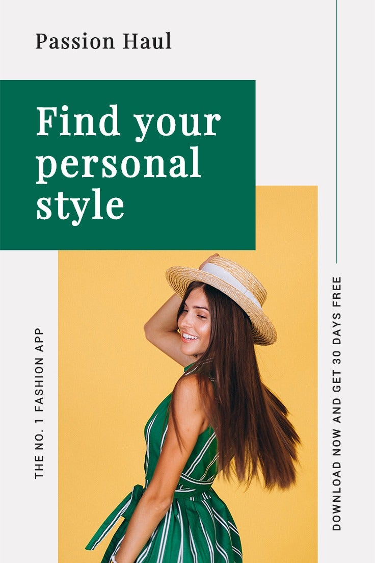 Fashion App Promotion Pinterest Pin Template