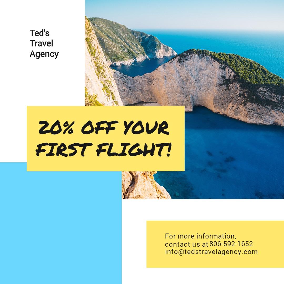 Creative Travel Agency Instagram Post Template