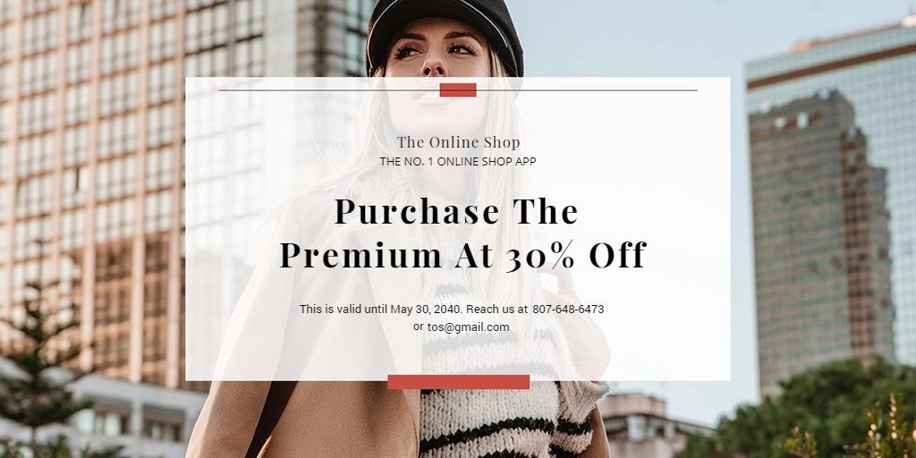 Online Shop App Promotion Twitter Post Template
