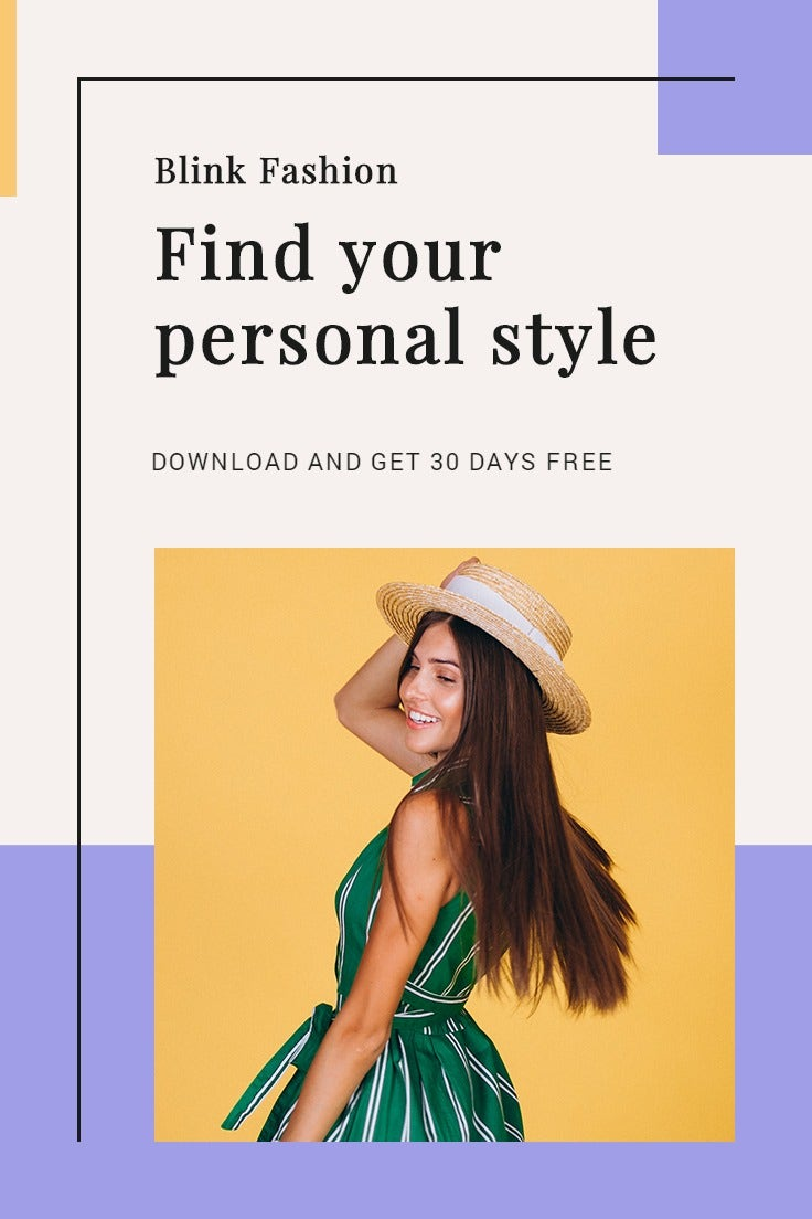 Fashion Brands App Promotion Pinterest Pin Template