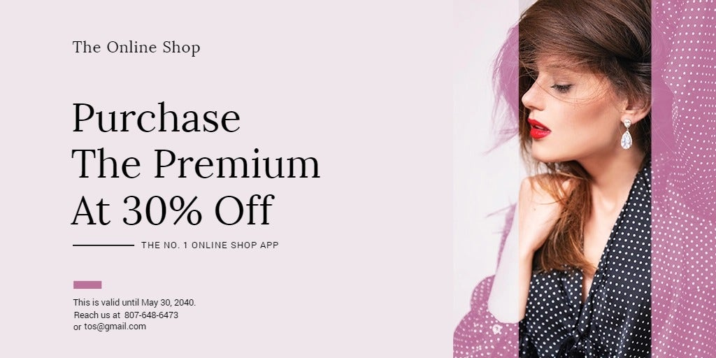 Shop App Promotion Twitter Post Template