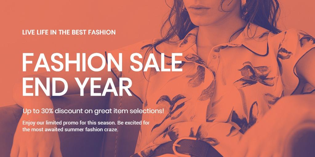 Minimalistic Fashion Sale Twitter Post Template