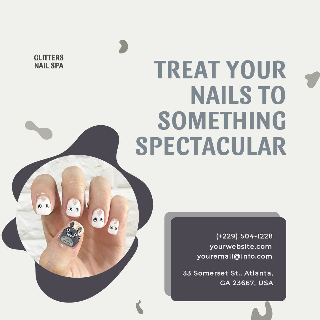 Nail Spa Instagram Post Template