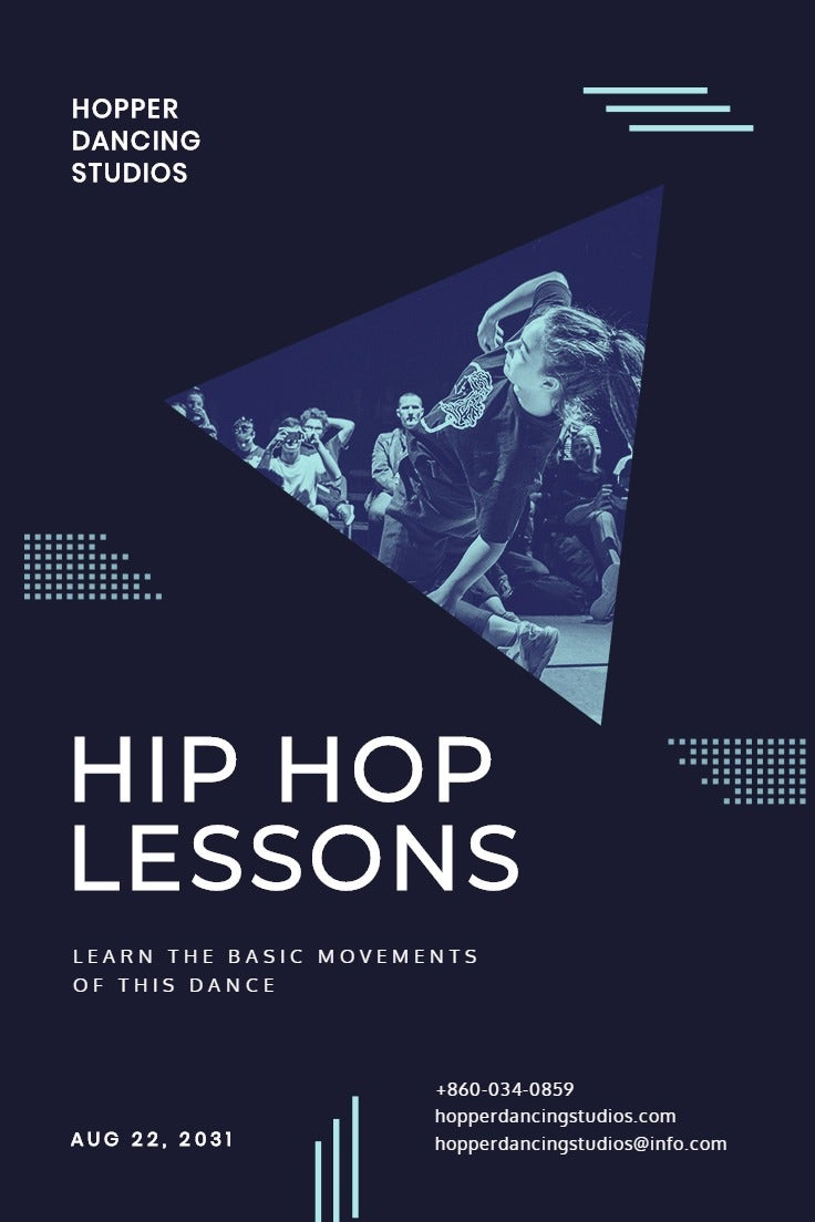 Hip Hop Club Pinterest Pin Template