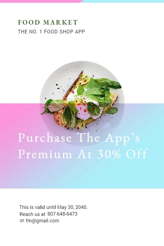 Food App Promotion Tumblr Post Template