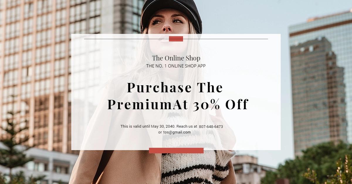 Online Shop App Promotion Facebook Post Template