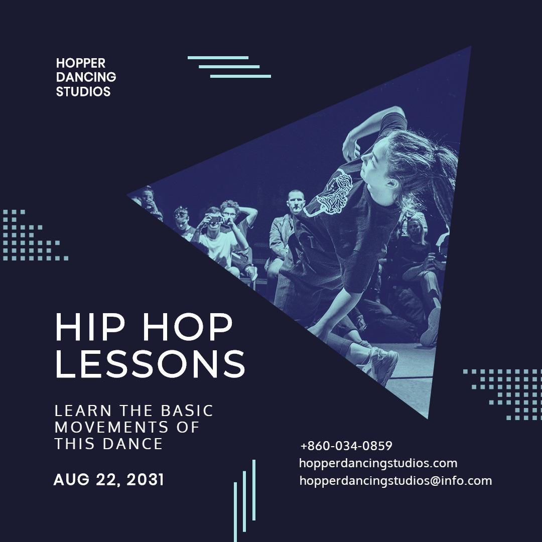 Hip Hop Club Instagram Post Template