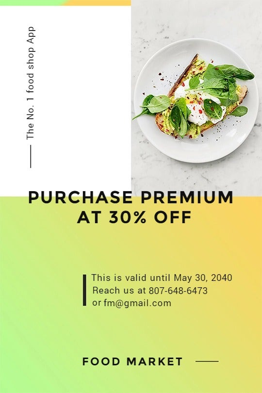 Restaurant App Promotion Tumblr Post Template