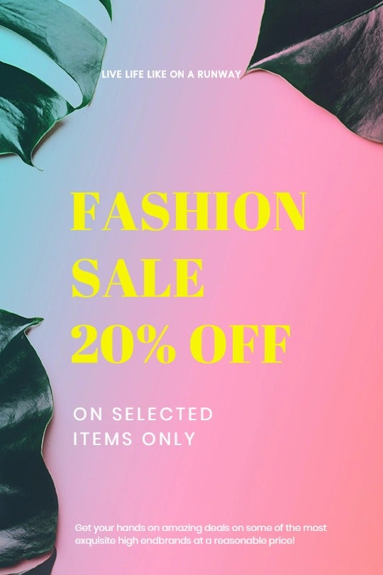 Basic Fashion Sale Tumblr Post Template
