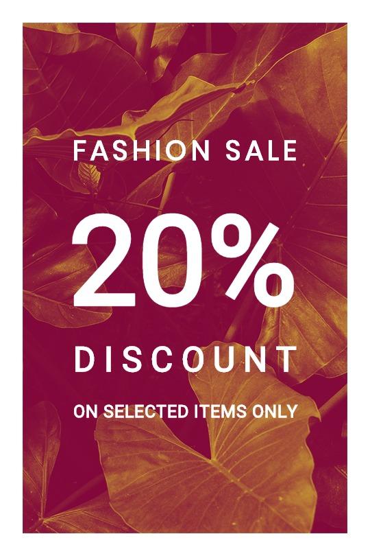 Editable Fashion Sale Tumblr Post Template
