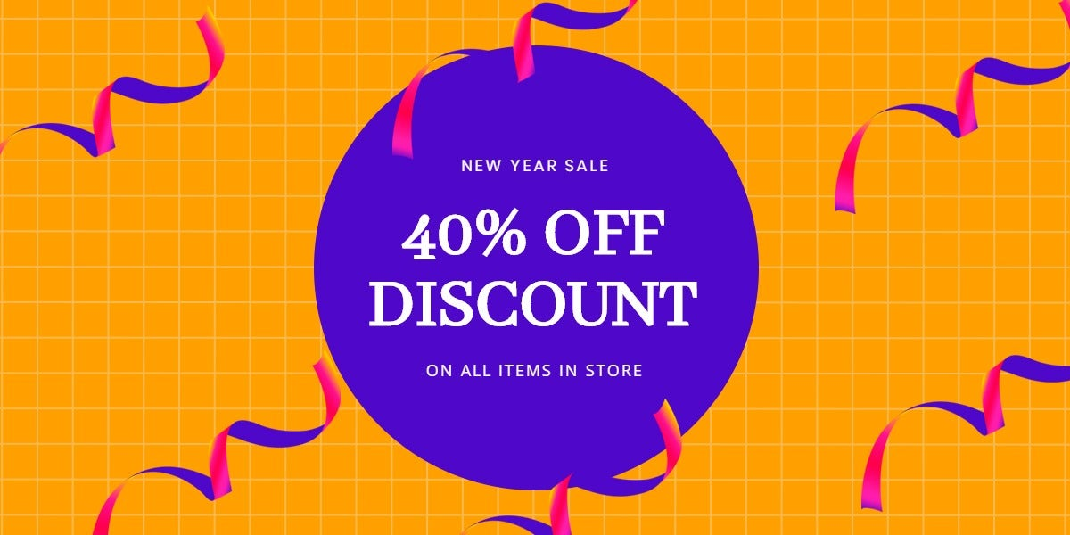 Holiday Discount Sale Blog Post Template