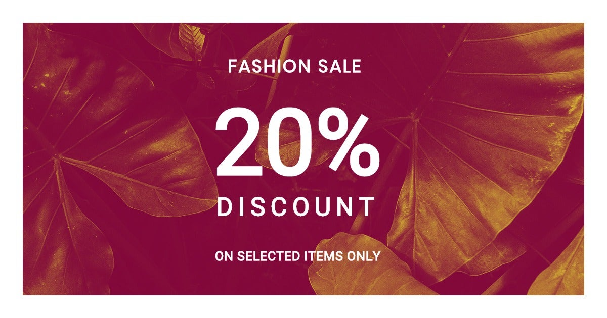 Editable Fashion Sale Facebook Post Template