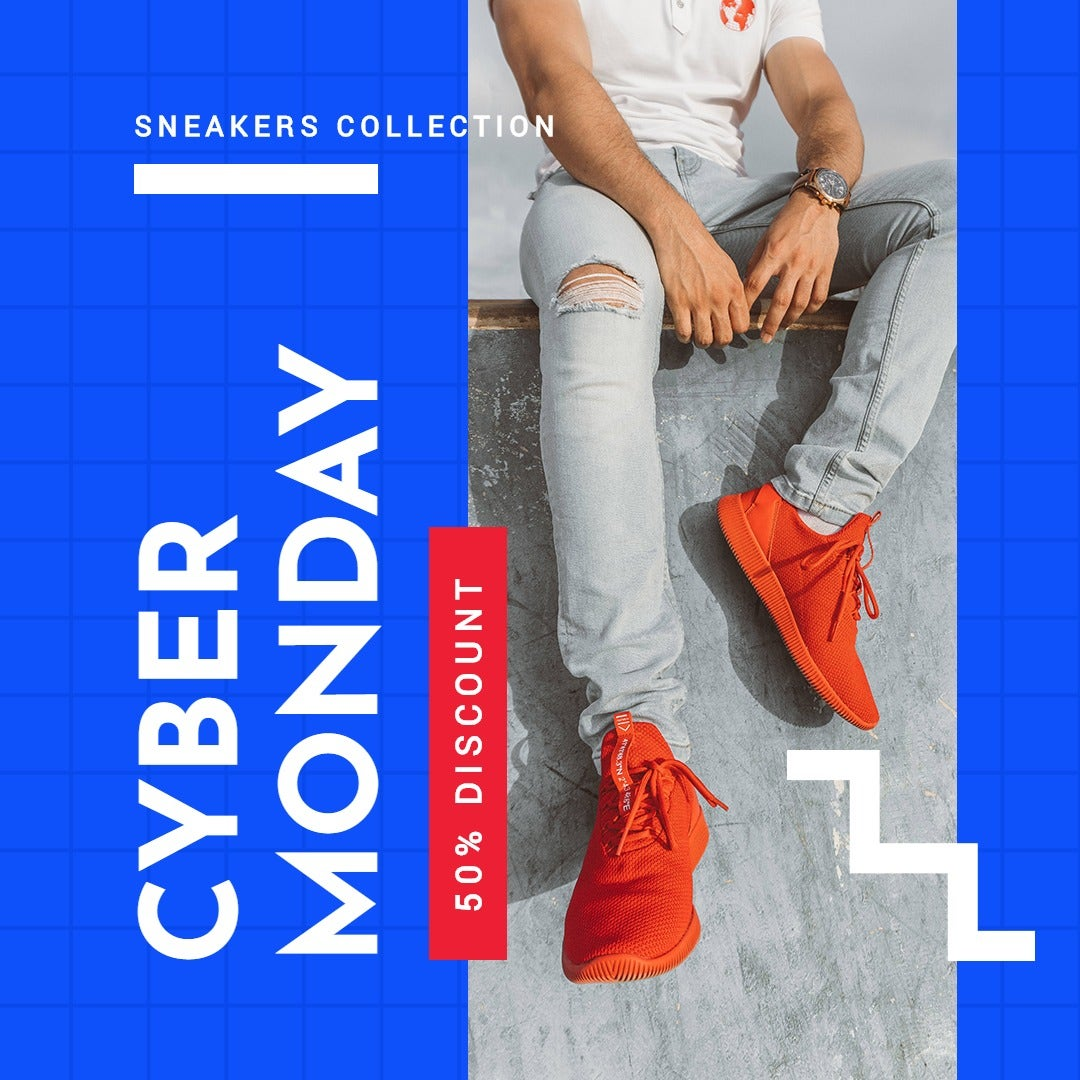 Cyber Monday Discount Sale Instagram Post Template