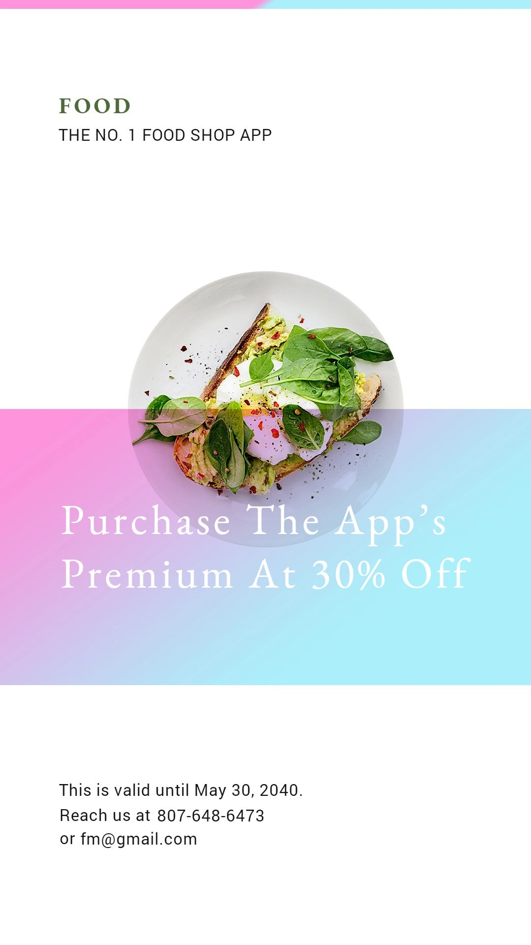 Food App Promotion Whatsapp Post Template