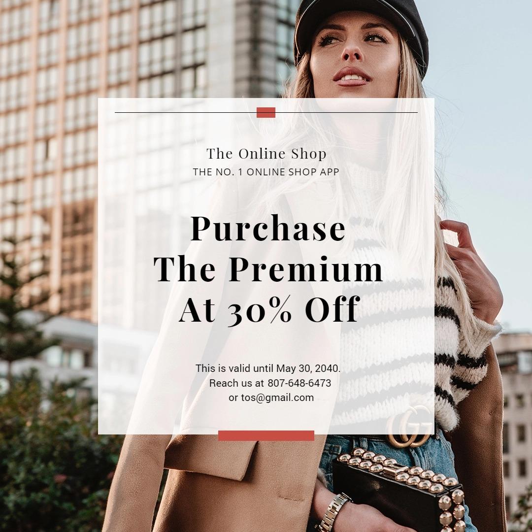 Online Shop App Promotion Instagram Post Template
