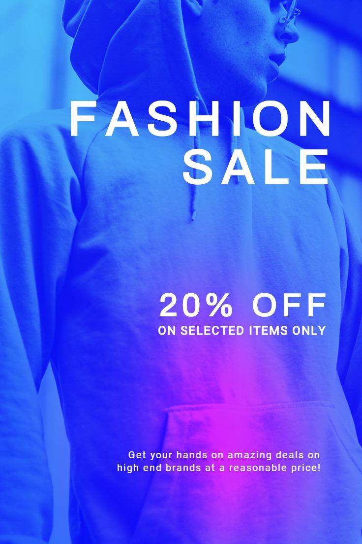 Fashion Sale Discounts Pinterest Pin Template