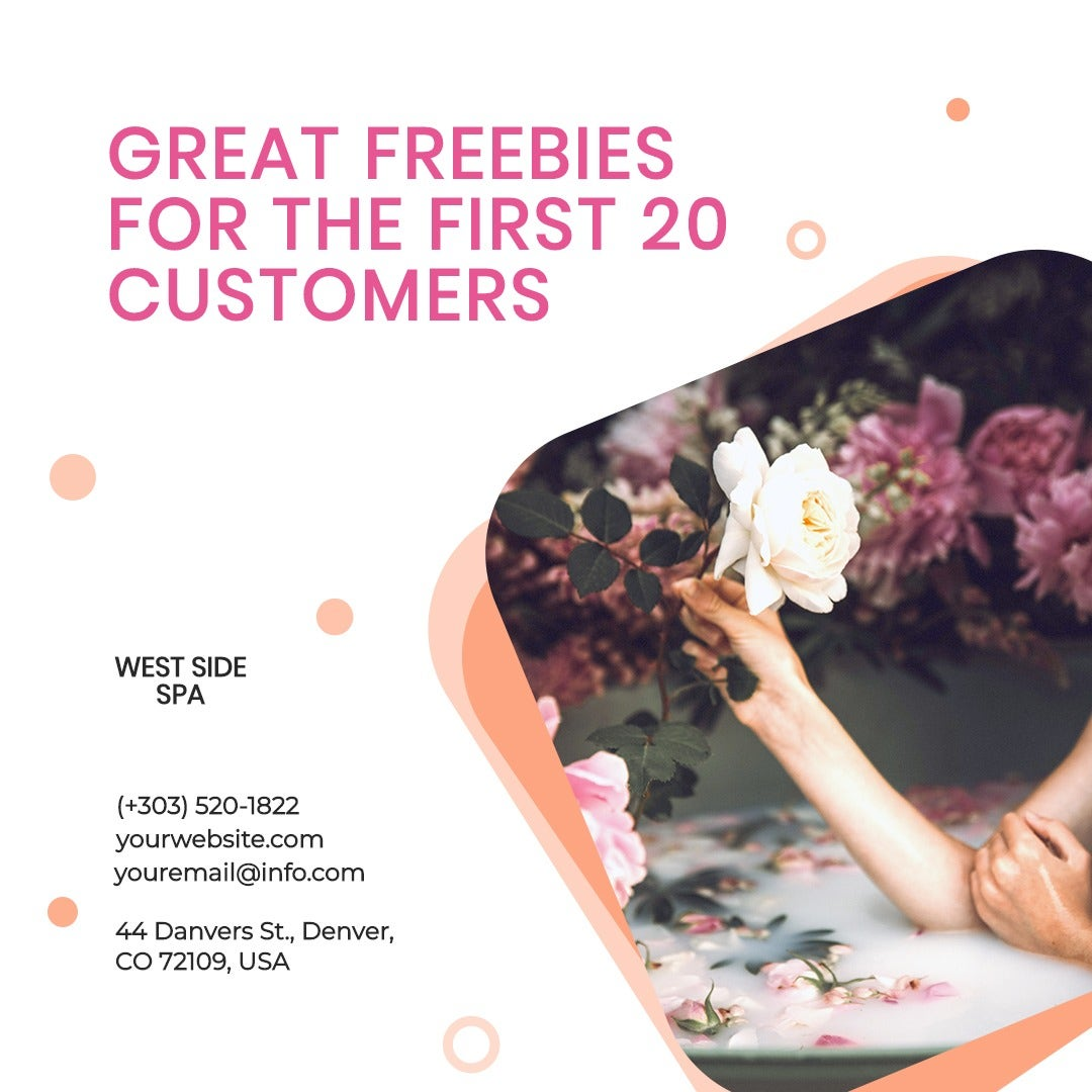 Spa Promotion Instagram Post Template