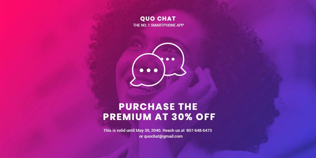 Chat App Promotion Twitter Post Template