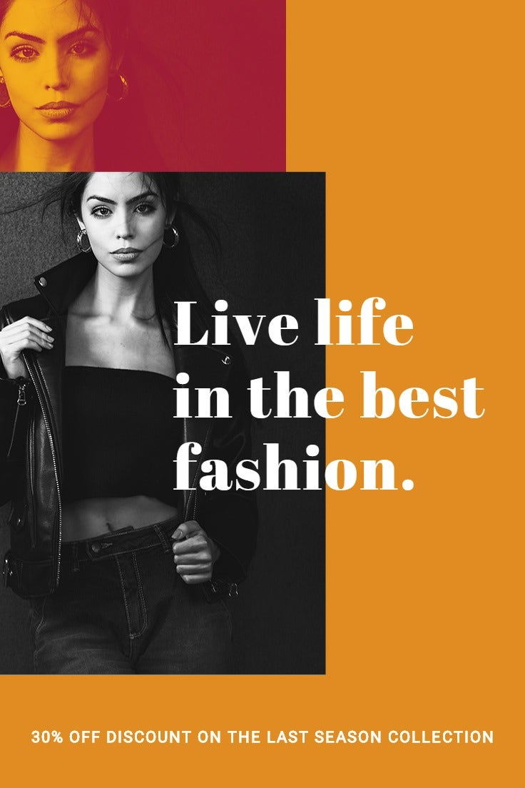 Clean Fashion Sale Pinterest Pin Template