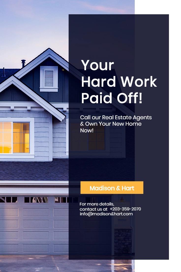 Real Estate Startup Pinterest Pin Template