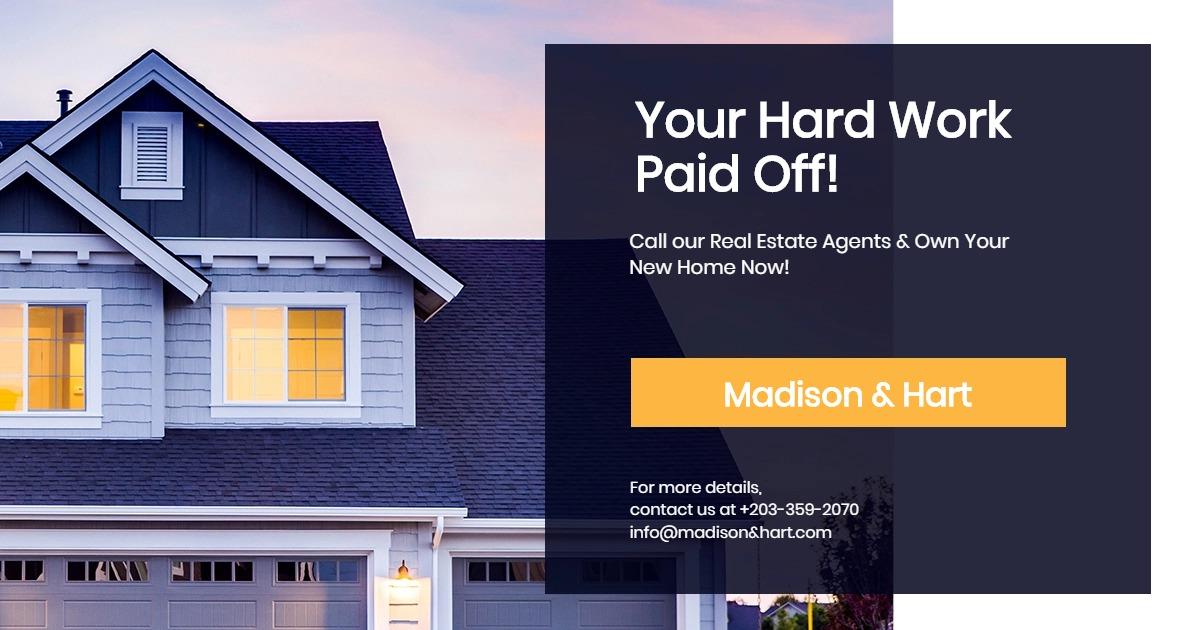 Real Estate Startup Facebook Post Template