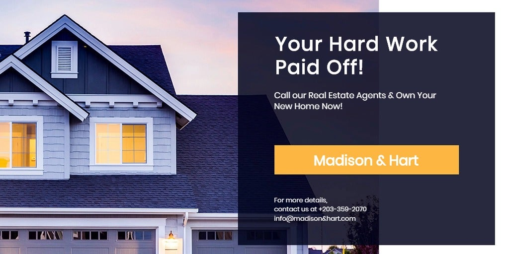 Real Estate Startup Twitter Post Template