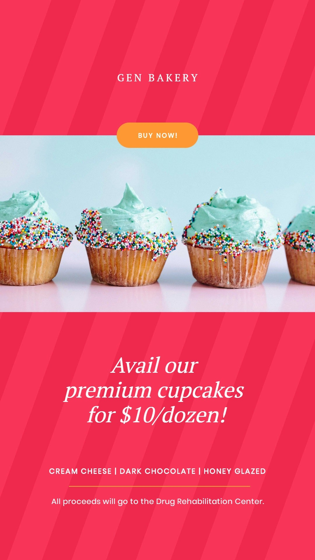 Cupcake Fundraiser Instagram Story Template
