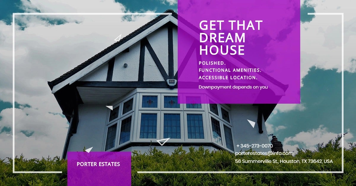 Real Estate Advertising Linkedin Post Template