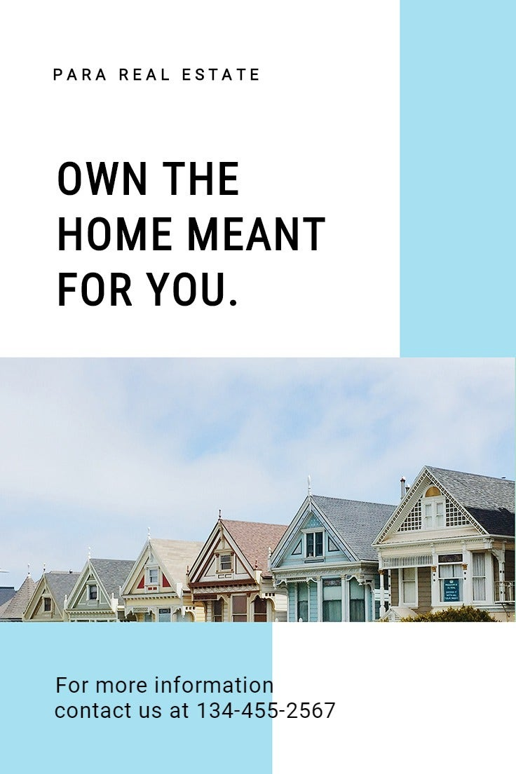 Minimalistic Real Estate Pinterest Pin Template